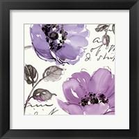 Framed Floral Waltz Plum II
