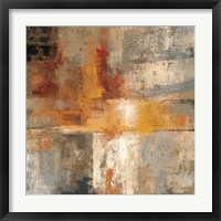 Silver and Amber Crop Framed Print