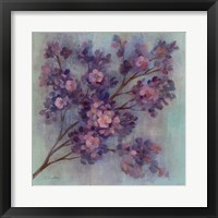 Twilight Cherry Blossoms I Framed Print