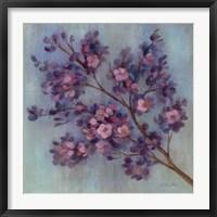 Framed Twilight Cherry Blossoms II