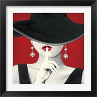 Framed Haute Chapeau Rouge I