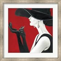 Framed Haute Chapeau Rouge II
