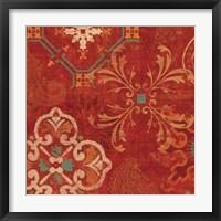 Framed Crimson Stamps II