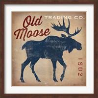 Framed Old Moose Trading Co.Tan
