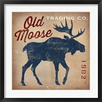 Framed Old Moose Trading Co.Tan
