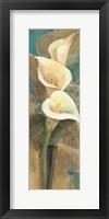 Framed Calla Lily Trio Panel