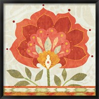 Framed Ikat Bloom I