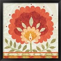 Framed Ikat Bloom II