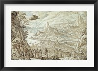 Framed Extensive Estuary Landscape with the Story of Mercury and Herse