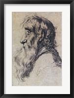 Framed Head of an Old Man