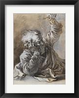 Framed Reclining Old Man