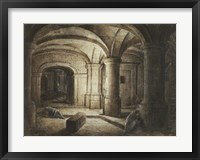Framed Crypt of a Church with Two Men Sleeping