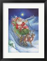 Framed Here Comes Santa Clause