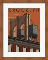 Framed Brooklyn Travel Poster