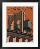 Framed Brooklyn Travel Poster