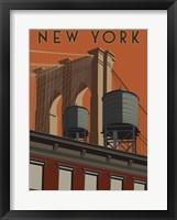 Framed New York Travel Poster