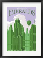 Emerald City Travel Framed Print