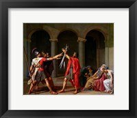 Framed Oath of Horatii
