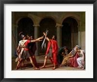 Framed Oath of Horatii