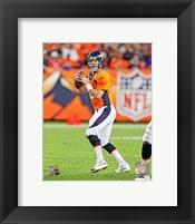 Framed Peyton Manning Football Passing