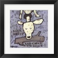 Framed Bark Softly