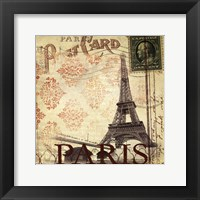 Framed Paris Postcard