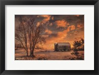 Framed Big Tree, Little Barn