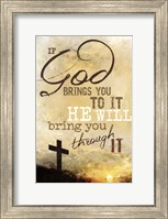 Framed If God Brings You To It