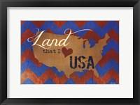 Land that I Love Framed Print