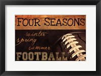 Four Seasons Football II Framed Print