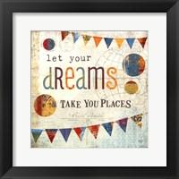 Dreams - square Framed Print