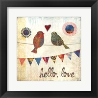 Hello, Love Framed Print
