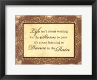 Framed Dance in the Rain