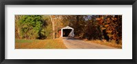 Framed Melcher Covered Bridge Parke Co IN USA