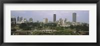 Framed Skyline View of Nairobi, Kenya