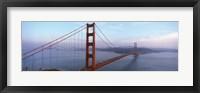 Framed Traffic On A Bridge, Golden Gate Bridge, San Francisco, California, USA