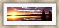 Framed Storm clouds over a lake at sunrise, Jenny Lake, Grand Teton National Park, Wyoming, USA