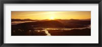 Framed Sunrise over mountains, Snake River, Signal Mountain, Grand Teton National Park, Wyoming, USA