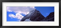Framed Low angle view of a mountain peak, Mt Matterhorn, Zermatt, Valais Canton, Switzerland
