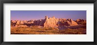 Framed Rock formations in a desert, Badlands National Park, South Dakota, USA