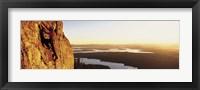 Framed USA, Wyoming, Grand Teton Park, climber