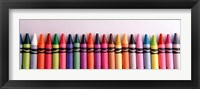 Framed Close-up of assorted wax crayons