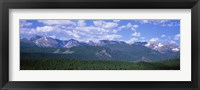 Framed Mountains fr Beaver Meadows Rocky Mt National Park CO USA
