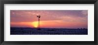 Framed Windmill Cornfield Edgar County IL USA