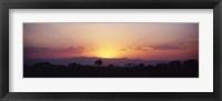 Framed Sunset over a landscape, Tarangire National Park, Tanzania