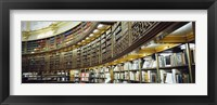 Framed Bookcase in a library, British Museum, London, England
