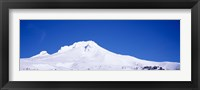 Framed Snowcapped mountains, Mt Hood, Oregon, USA