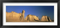Framed Monument Rocks in Kansas