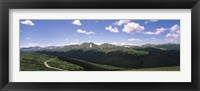 Framed High angle view of a mountain range, Rocky Mountain National Park, Colorado, USA