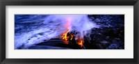 Framed Lava flowing from a volcano, Kilauea, Hawaii Volcanoes National Park, Big Island, Hawaii, USA